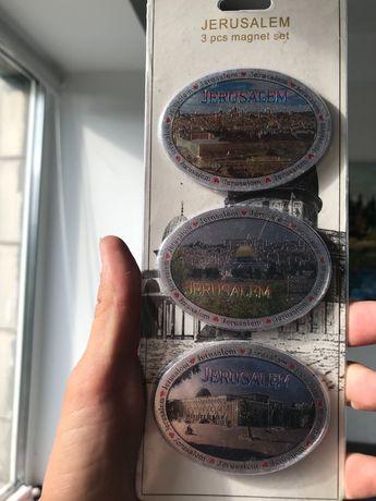 Набор магнитов с Иерусалима 3 шт (сувенир из путешествия в подарок)