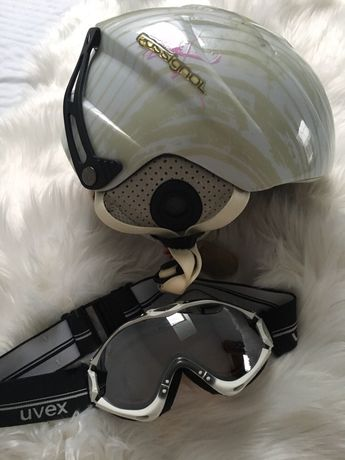 Kask narciarski rossignol i google uvex 54-56 stan idealny