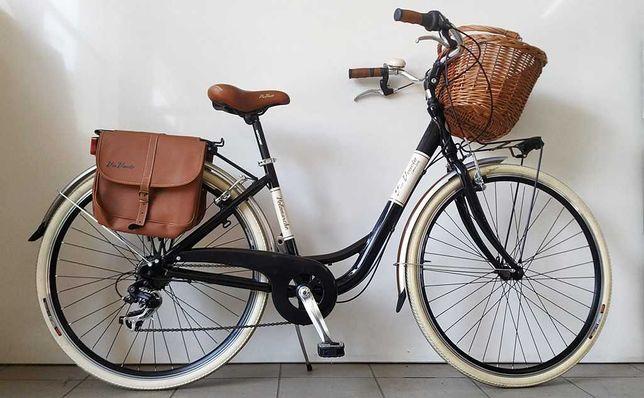 Rower Via Veneto miejski damski koła 28 rama 17 koszyk 6 biegów OKAZJA