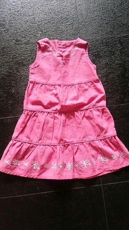 Śliczna różowa sukienka 98/104 cm