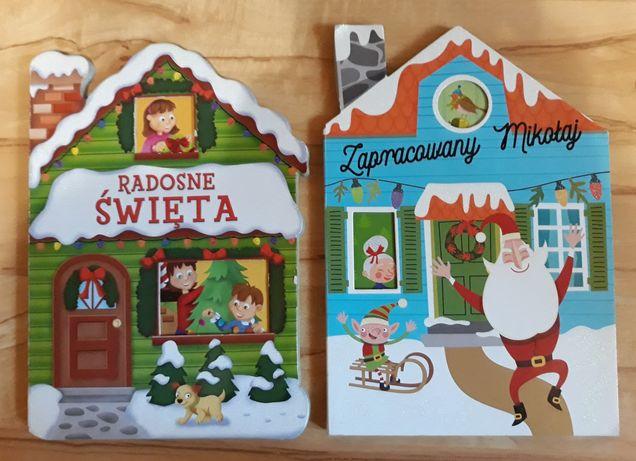 Książeczki dla dziecka z grubymi kartkami z Mikołajem Święta