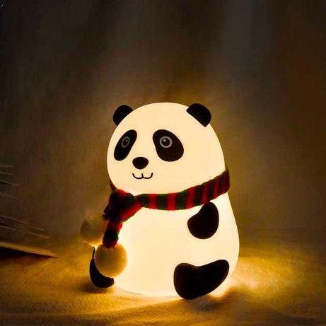 Тактильный светильник Панда из силикона симпатичный ночник в детскую