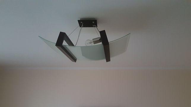 Lampa wisząca szkło/wenge