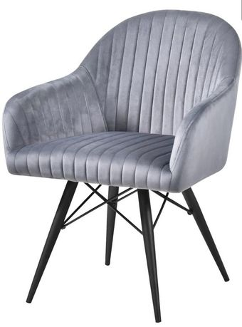 Szary tapicerowany fotel