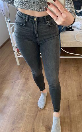 Szare jeansy pull&bear