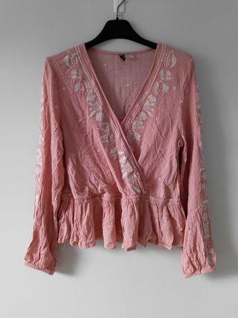 Różowa bluzka z naszyciem H&M M/L