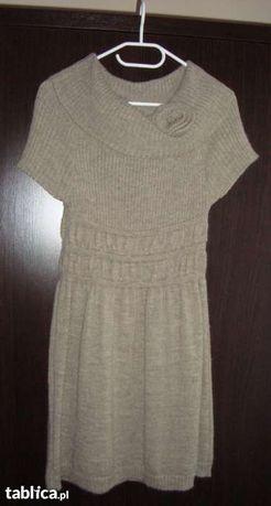 """Sukienka ciepła, """"ciążowa"""" idealna do getrów"""