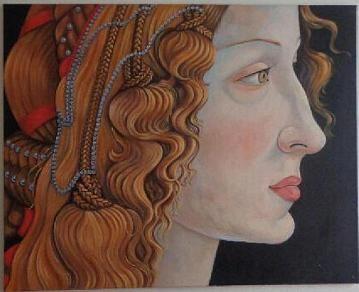 Obraz olejny na płótnie kobieta twarz - 100x80cm