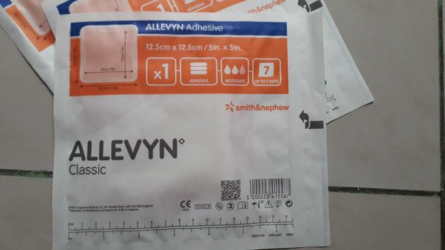 Sprzedam opatrunki allevyn classic adhesive 12 5x12 5 cm