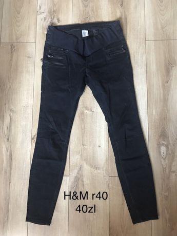 Jeansy ciążowe H&M rurki r40