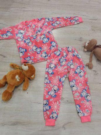 Детская теплая пижама на девочку