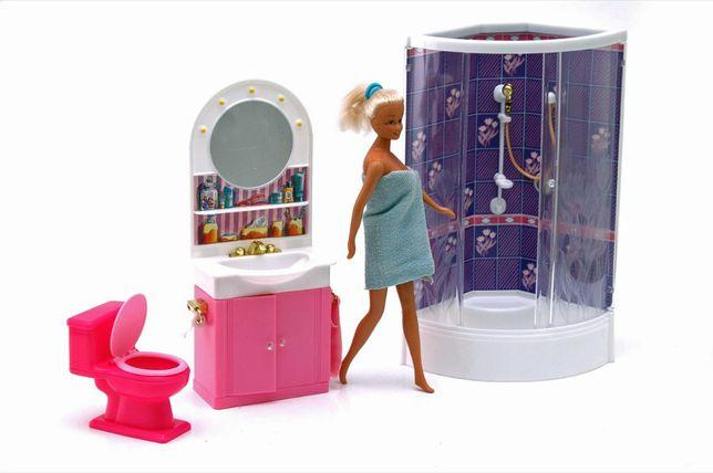 Łazienka dla lalki Barbie prysznic kabina szafka