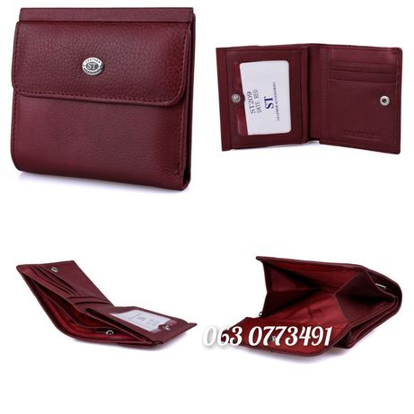 Маленький женский кожаный кошелёк клатч ST Leather