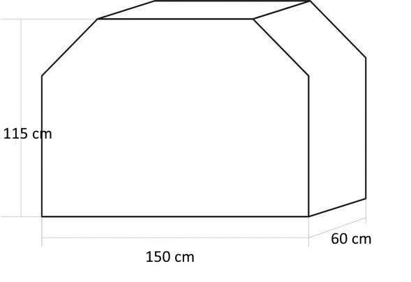 Pokrowiec na Grilla 150 x 60 x 115cm