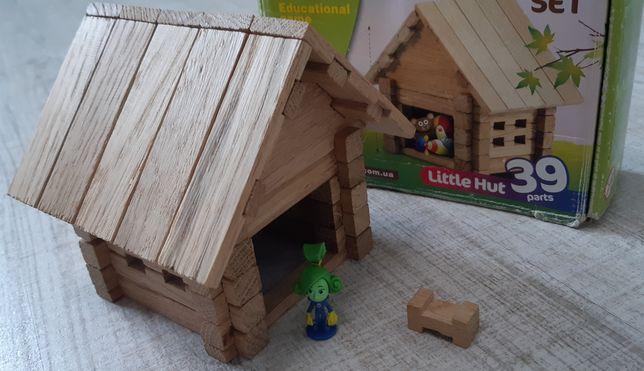 Деревянный конструктор, домик