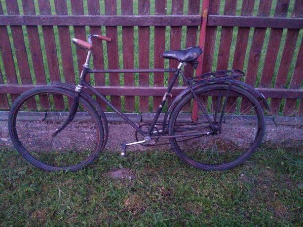 Rower - Klasyczny czarny Polski Romet z lat 60 - sprawny