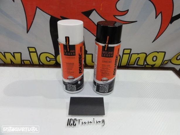Spray reparação e pintura + spray de limpeza Preto Mate para bancos de mota