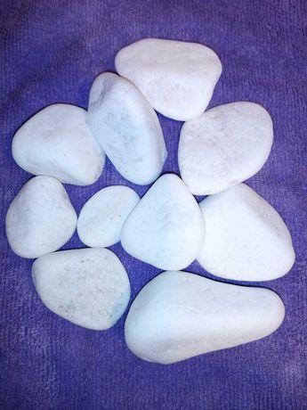 Pedras brancas ou pretas para decoração de jardins, vasos, quintais...