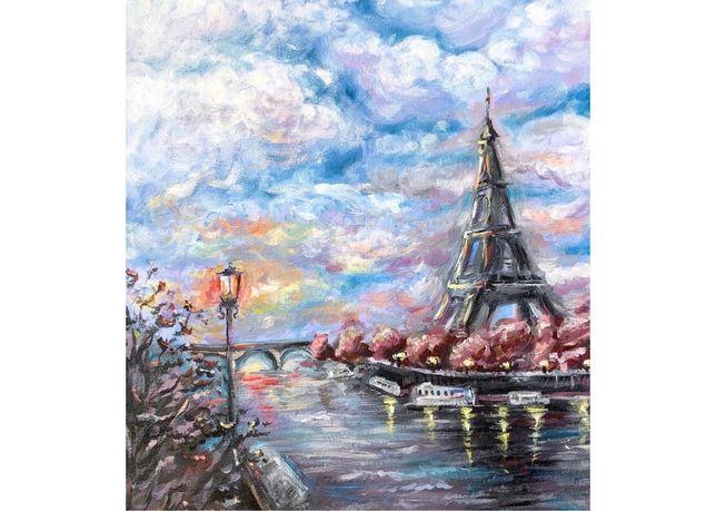 """Ręcznie malowany obraz """"Paryż"""""""