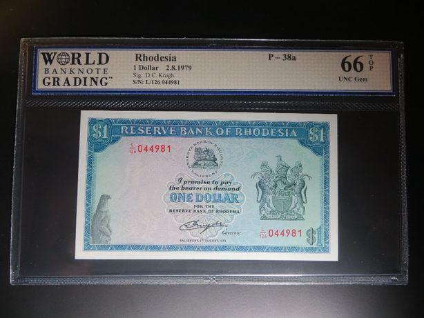 NOTA - RODÉSIA - 1 DOLLAR - Pick 38 a) - 1979 - WBG 66