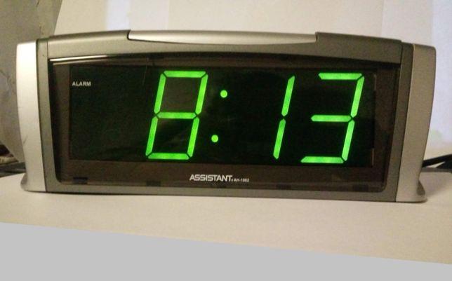 Часы-будильник настольные ASSISTANT AH-1062 green
