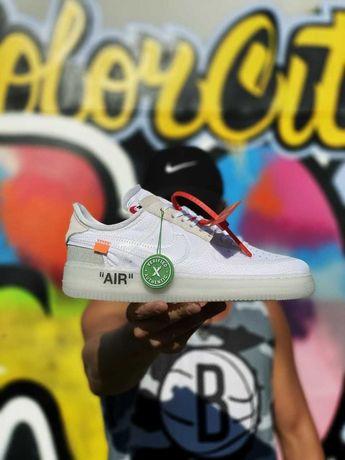 Мужские Кроссовки Nike Air Force 1 Off-White (AAA) 40-41-42-43-44-45