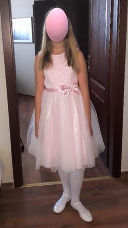 Elegancka, dziewczęca sukienka, rozm.152