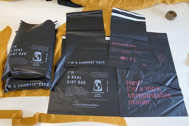 Экологичная упаковка биоразлагаемые компостируемые почтовые конверты