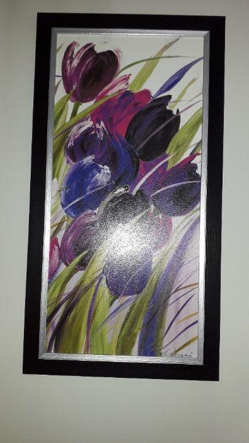 Obraz 33x70 cm, rama czarna