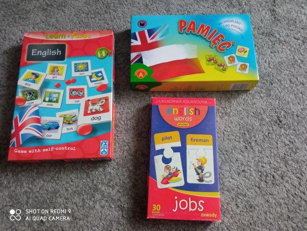 Zestaw gier edukacyjnych do nauki języka angielskiego