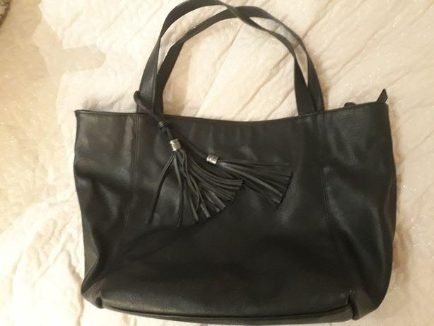 Torba torebka shopper bag czarna c&a boho