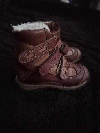 Kozaczki buty zimowe ze skóry naturalnej