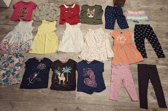 Zestaw ubranek dla dziewczynki zara, hm, reserved, pepco 98-104cm