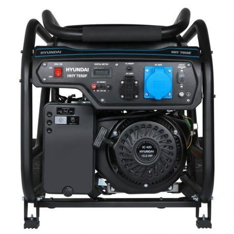 Оригинальный бензиновый генератор HYUNDAI HHY 7050F 5.5 кВТ. Новый!