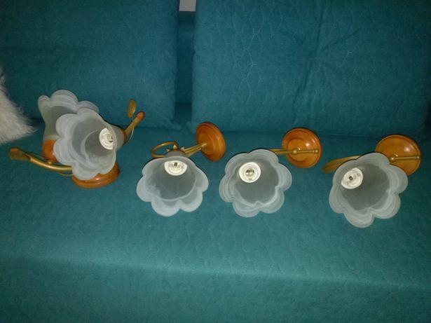 Lampa sufitows+3 kinkiety