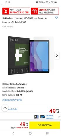 Szkło hartowane HOFI Glass Pro+ do Lenovo Tab M10 10.1