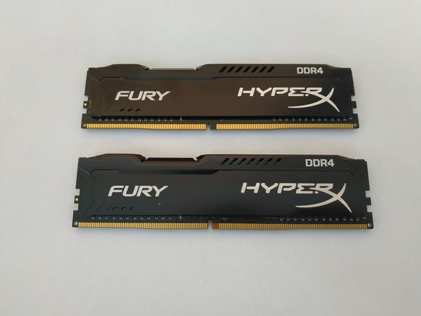 2 планки Kingston HyperX DDR4-2400 8192MB