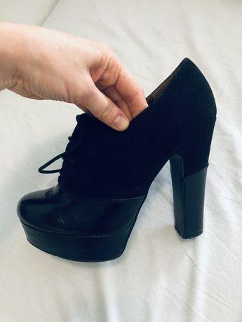 Ботильйони, ботинки, туфлі Next, черевики жіночі на каблуку, шкіряні