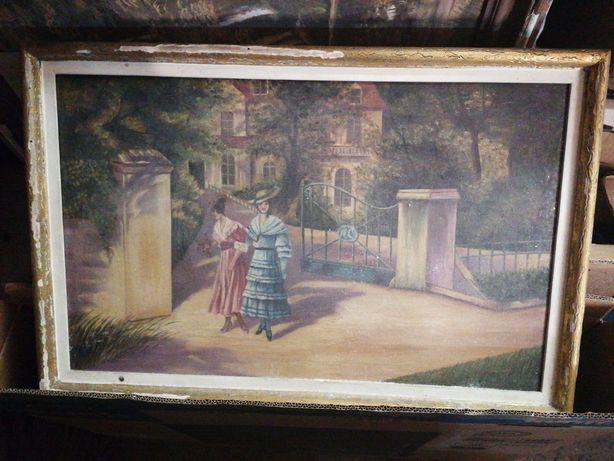 Quadro antigo tela