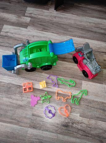 Śmieciarka i wóz strażacki Play Doh