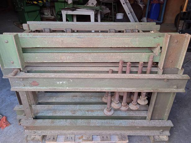 Prasa stolarska, ściski stolarskie 6 sztuk, cz. robocza 115 x 40 cm