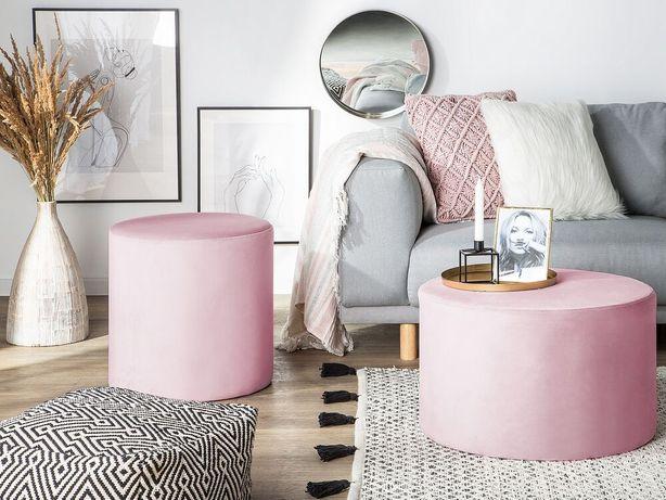 Puff em veludo rosa LOVETT - Beliani