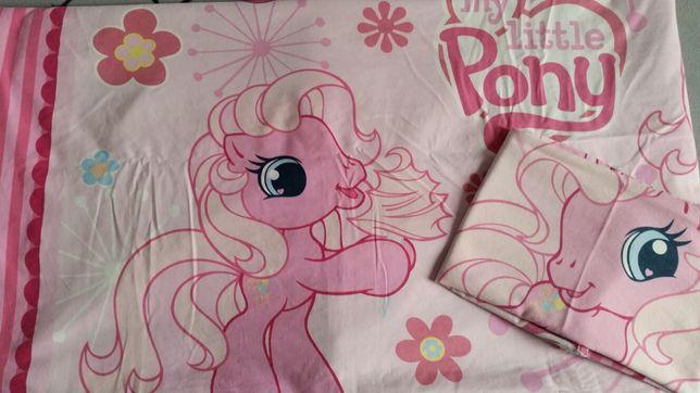 Komplet pościeli My Little Pony 160x200 poszewka 70x80 konie + ręcznik