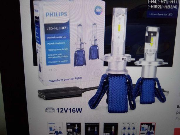Par lâmpadas Philips Ultinon Essential Led HL  H7 original novas cx.