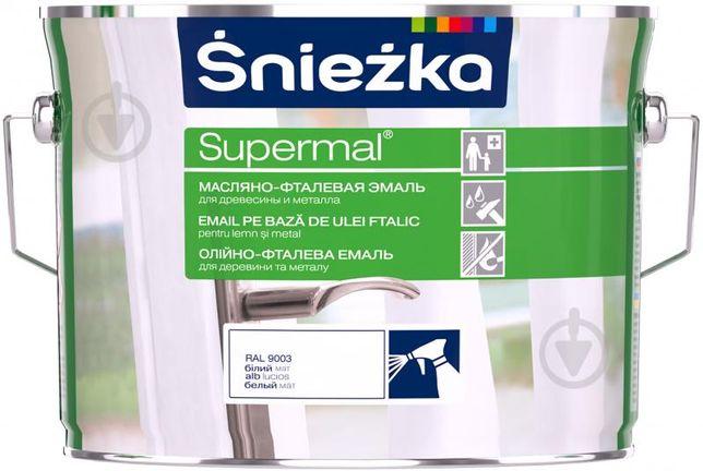 Краска Емаль Sniezka олійно-фталева Supermal білий мат 2,5 л