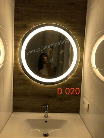 Зеркало с подсветкой круглое. Зеркало для ванной.