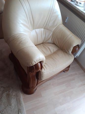 Fotel Skóra kolor /Caffe/ Piękny.  580zł.