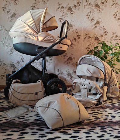 Люксовая,кремовая детская коляска 2в1 Tuttis Zippy Pia Natural Ecco Le