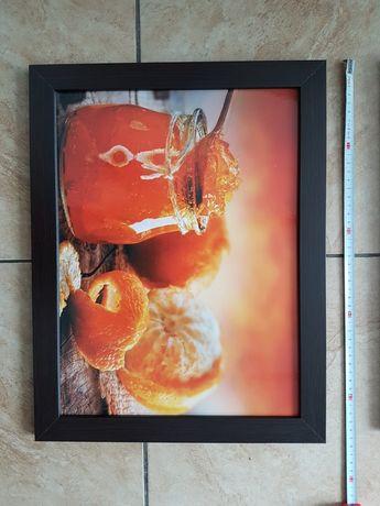 Obraz do kuchni pomarańcza miód dżem 35x45cm