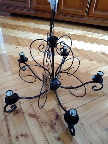 lampa wisząca Mauro 5*60 W, E 14 Nowa